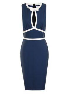 Navy+cream bow dress - View All Dresses  - Dresses