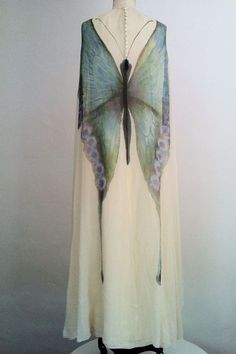 Beautiful!  Could be translated into Nuno... ladylimoges:MOLLIE PARNIS Butterfly Gown ca.1970
