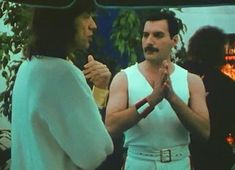 Freddie and Mick! Wembley concert backstage