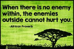 When there is no enemy within, the enemies outside cannot hurt you