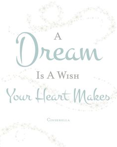 A dream is a wish your heart makes… Cinderella