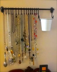 Finally have a place to display my long necklaces!