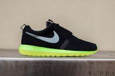 "Nike Roshe Run NM ""Black, Silver & Volt"""