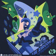 """Blue Zircon: Space Attorney"" T‑Shirt – Level Up Studios"