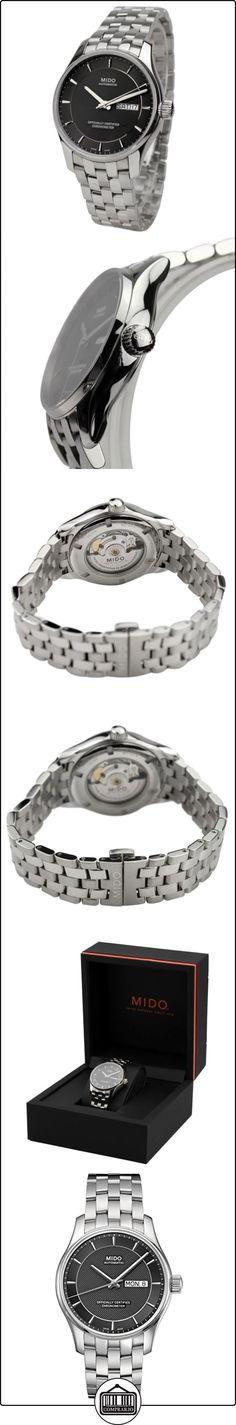 Mido Belluna M0014311106192 - Reloj para hombres, correa de acero inoxidable color plateado  ✿ Relojes para hombre - (Lujo) ✿