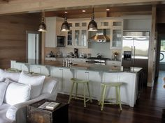 love the lighting above the bar ~ really like the bar ~ nice & long ~ from Cottage Chic Photo Gallery