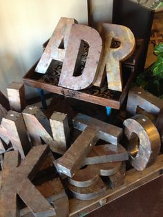 Metal Letters at our store. Decorative Metal, Metal Letters, Jenga, My Style, Toys, Activity Toys, Clearance Toys, Gaming, Games