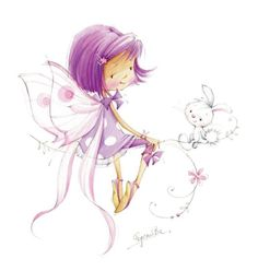illustration- reminds me of herself the elf. Illustration Mignonne, Cute Illustration, Cute Images, Cute Pictures, Art Mignon, Fairy Art, Cute Art, Illustrators, Fantasy Art