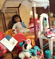American Girl Brand Doll Melody loves her new Bed. @agofficial #americangirlbrand