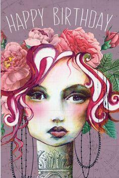 PAPAYA! Art Rose Small Card - Birthday - Occasions - Papaya!