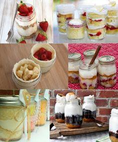 Mason jar baking...such sweet ideas!  Must try soon!