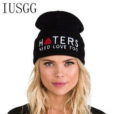 HTERS Hiphop Fashion Letter Hats Gorros Bonnets Cocain & Caviar Winter Cap Women Men Skullies Beanie Female Knitted Hat Toucas