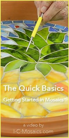 These are the quick basics to make your first experience in mosaics easy & fun. They will help you make decisions about all of the great options for using your creativity. www.i-c-mosaics.c...