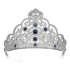 Antique Tiara (sapphires, diamonds).