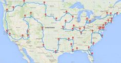 One man decided to apply an algorithm to national travel and ended up optimizing the absolutely PERFECT cross-country road trip. The man was Randy Olsen, and he was joined by Tracy Staedter from Discovery News while plotting this wonderful map.