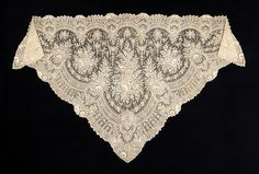 Shawl Needle Lace, Bobbin Lace, Antique Lace, Vintage Lace, Types Of Lace, Lace Bolero, Lacemaking, Costume Collection, Linens And Lace