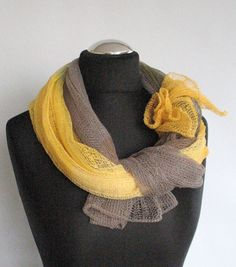 Freesia Yellow Christmas in July by Turban Diva on Etsy