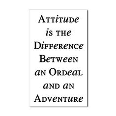"""Attitude is the difference between an ordeal and an adventure."" So true! #travel #quote"