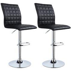 Grau verchromter Stahl Antirutschgummi,gut gepolsterte Sitzfl/äche WOLTU BH28gr-2 2X Barhocker 2er Set Barstuhl Tresenhocker aus hochwertigem Kunstleder