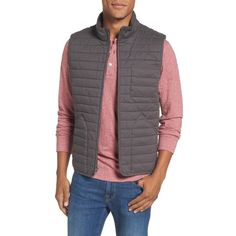 Men's Nordstrom Men's Shop Quilted Twill Vest (5.675 RUB) ❤ liked on Polyvore featuring men's fashion, men's clothing, men's outerwear, men's vests, grey magnet, plus size, mens grey vest, mens vest, mens vest outerwear and mens insulated vest