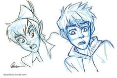 Jack frost and peter pan. I love this drawing. I found it a while ago, and now managed to put it on pintrest. I hope you like it to. Peter Pan, Jack Frost, Disney Drawings, Sketches, Character Design, Disney Cartoons, Drawings, Cartoon, Disney And Dreamworks