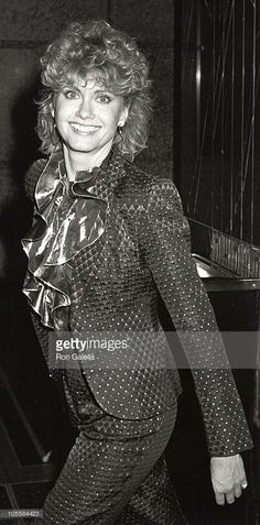 Dick Ebersol and Olivia Newton-John during Party Honoring 'Saturday Night Live' and