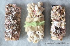 Make your own cereal bars and use up those leftover cereal boxes. Cereal bars are a great breakfast on-the-go or quick snack even the kids will enjoy. Slimming World Flapjack, Slimming World Desserts, Slimming World Breakfast, Slimming World Diet, Slimming World Recipes, Slimming World Hifi Bars, Easy Healthy Breakfast, Healthy Eating, Healthy Food