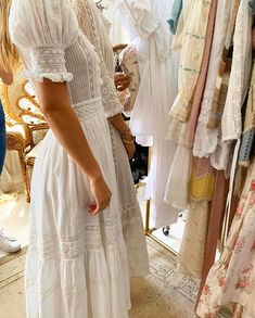 Details from today 💫💫💫 Summer Sundresses, Fancy Gowns, Moda Boho, Boho Dress, Bridal Dresses, Fall Outfits, My Style, Country Style, Short Sleeve Dresses