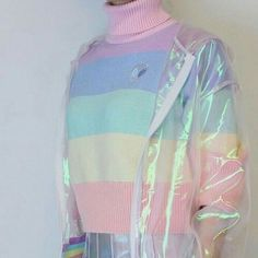 Image about fashion in Pastel by Esli on We Heart It Harajuku Fashion, Kawaii Fashion, Cute Fashion, Fashion Outfits, Aesthetic Fashion, Aesthetic Clothes, Aesthetic Green, Rainbow Aesthetic, Ropa Color Pastel