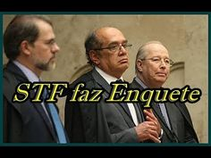 STF FAZ ENQUETE  DE PRISÃO SEGUNDA INSTÂNCIA E BRASILEIROS RESPONDEM