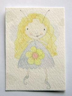 Original Fairy Watercolour ACEO