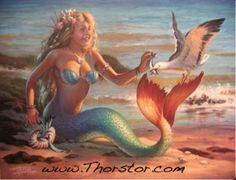 Sharing Herring Fantasy Mermaids, Mermaids And Mermen, Mermaid Pictures, Your Spirit Animal, Hula Girl, Merfolk, Ariel The Little Mermaid, Art Pictures, Thor