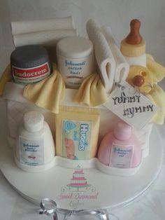 Baby shower cake. Www.sweetdiamondcakes.co.uk