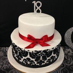 18th Birthday Cake, Vintage design