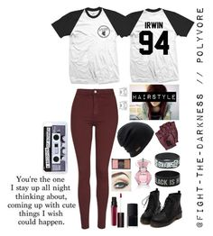 """""""PRP #5 - 5SOS Concert."""" by fight-the-darkness ❤ liked on Polyvore featuring moda, Topshop, Coal, Marc by Marc Jacobs, Laura Mercier, Forever 21 e NARS Cosmetics"""