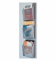The 3-Level Mesh Wall File is perfect for your home or office to store magazines brochures books and other literature on your wall