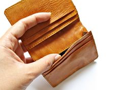 MADISON MONEY clip WALLET leather card holder genuine leather credit card wallet by Astaboho on Etsy