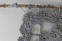 Items similar to Crochet Wall Hanging//Handmade//Cotton Yarn//Boho//Tassels//Dream Catcher//Gray on Etsy Diy Crochet Patterns, Crochet Wall Hangings, Dream Catcher, Stitches, Tassels, Crochet Necklace, Boho, Gray, Cotton