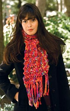 Ravelry: 2-Hour Garter Knit Scarf pattern by Lion Brand Yarn