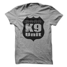 K9 Unit Dog Paws Police Dog T-shirts For K9 Officers