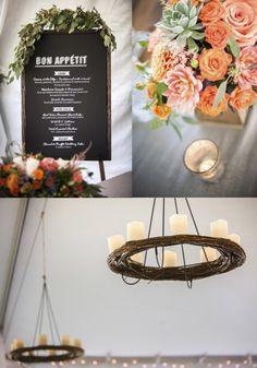 Chandeliers and dinner menu display. Garden Weddings, Real Weddings, Wedding Inspiration, Wedding Ideas, Wedding Decorations, Table Decorations, Spread Love, Whistler, Dinner Menu