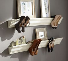 Great idea for displaying shoes when short on storage