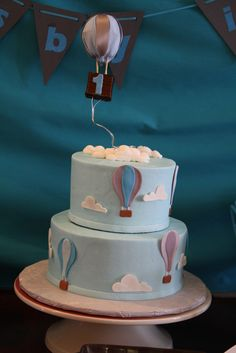Hot air balloon Birthday Party cake!  See more party ideas at CatchMyParty.com!