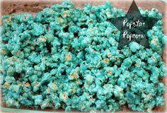 Kool-Aid Popcorn: can make it any color. Fun!