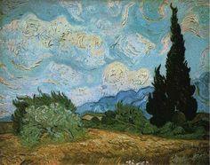 「糸杉のある麦畑」 1889 51.5 x 65 cm 個人蔵