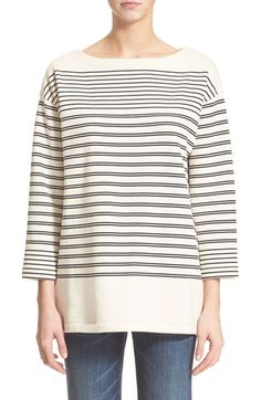VINCE Nautical Stripe Cotton Pullover. #vince #cloth #