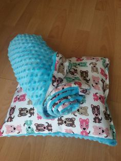 Check out this item in my Etsy shop https://www.etsy.com/uk/listing/270664571/minky-kids-blanket-and-pillow-cute-dogs