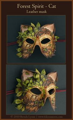 Forest Spirit Cat-Leather Mask by *windfalcon on deviantART Forest Spirit Cat-Leather Mask by *windfalcon on deviantART Larp, Ceramic Mask, Cat Mask, Leather Mask, Carnival Masks, Venetian Masks, Masks Art, Masquerade Ball, Cat Masquerade Mask