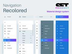 Navigation drawer in Material design system