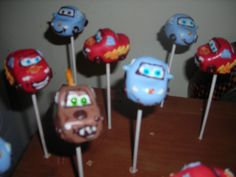 Cars Cake Pops for a little boy's Birthday! Crafted by: ~Cake Pops By AJ~